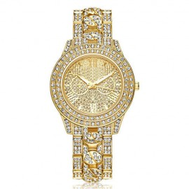 Poze Ceas dama Luxury Full Crystals - Golden