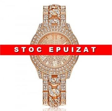 Ceas dama Luxury Full Crystals - Rose Golden