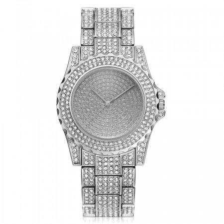 Poze Ceas dama Luxury Full Crystals - silvery - Model 1