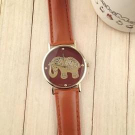 Poze Ceas dama model elefant auriu - maro