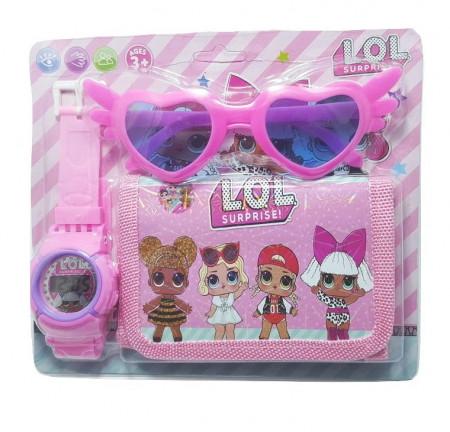 Poze Ceas pentru fetite cu portofel, tip LOL Surprise, set