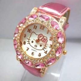 Poze Ceas tip Hello Kitty, cu cristale, ideal pentru tinere moderne