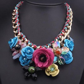 Poze Colier fashion Multicolor Flowers