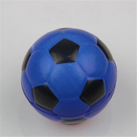 Poze Jucarie Squishy ieftina, model minge de fotbal, albastra