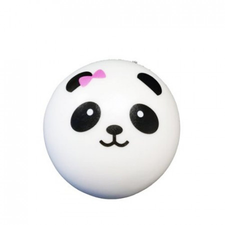 Poze Jucarie Squishy, model ursulet panda cu fundita