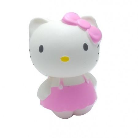 Poze Jucarie Squishy, parfumata, model pisicuta cu fundita roz