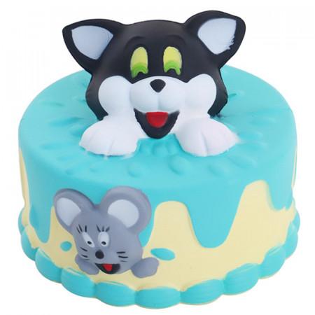 Poze Jucarie Squishy parfumata, model tort cu Tom si Jerry
