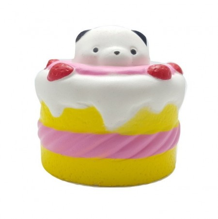 Poze Squishy, jucarie parfumata, Jumbo, model tortulet cu urs panda