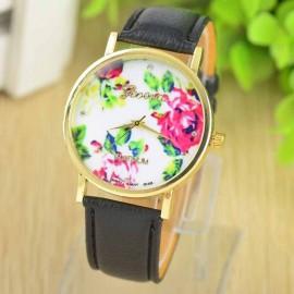 Ceas de dama Geneva Platinum - model floral