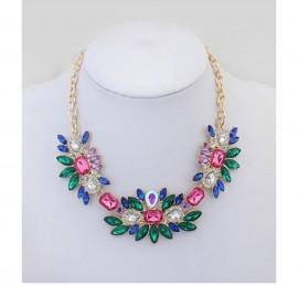 Poze Colier fashion cristale multicolore