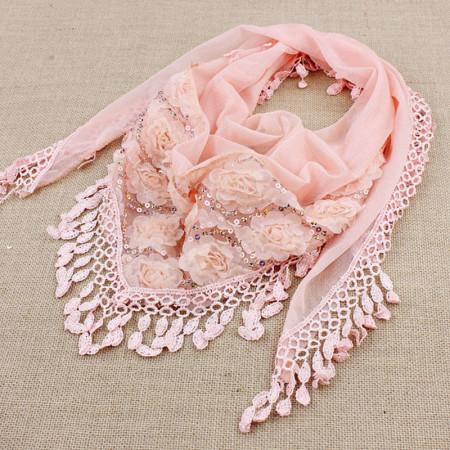 esarfa eleganta roz