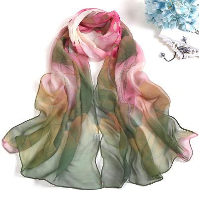 Poze Esarfa eleganta din voal, cu design floral, model 6