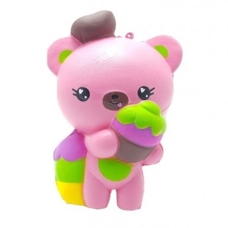 Poze Jucarie Squishy, ursuletul vanzator de inghetata, roz