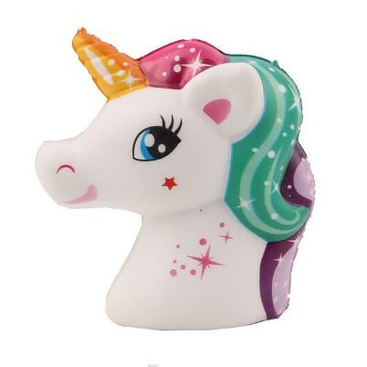 Poze Squishy unicorn, parfumata, calut unicorn, multicolor, model 2