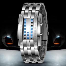 Poze Ceas barbatesc LED, stil bratara - silver
