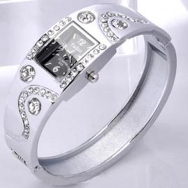 Poze Ceas dama elegant argintiu cu cristale