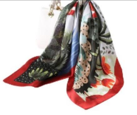 Poze Esarfa eleganta din matase satinata, multicolora, model 21