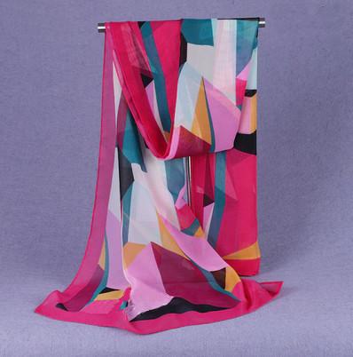 esarfa voal model abstract