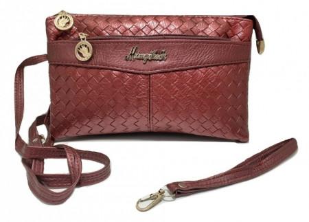 Poze Geanta / poseta de dama, stil chic, rosu burgund
