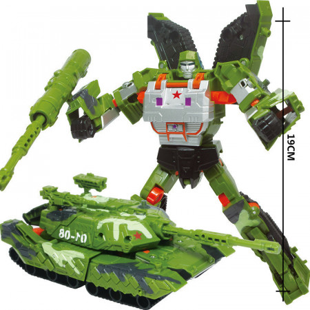 Poze Jucarie ieftina interactiva tip Transformers - 19 cm, Military style
