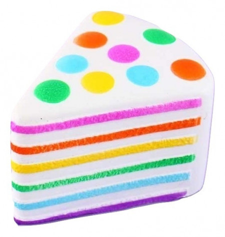 Poze Jucarie Squishy, parfumata, felie de tort, multicolor