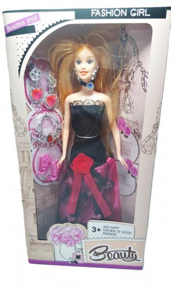 Poze Papusa Beauty, eleganta, 28 cm, cu accesorii