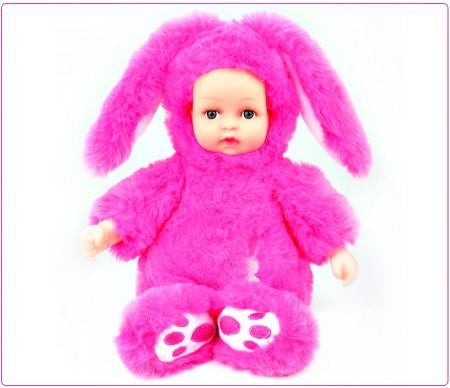 Poze Papusa bebelus in costum de iepuras