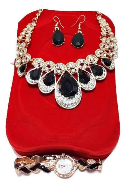 Poze Set cadou de Dama, Janine, cu ceas, cercei si colier