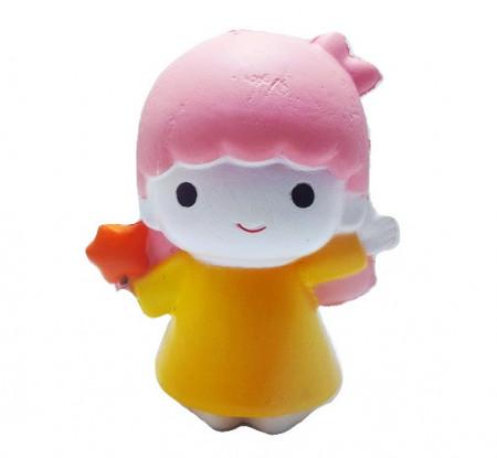 Poze Squishy Jumbo ieftina model Fetita cu acadea, roz