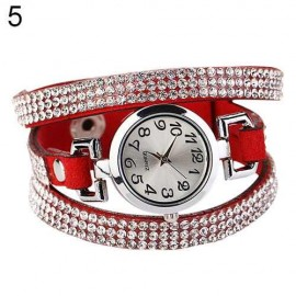 Poze Ceas dama White Crystals on Red