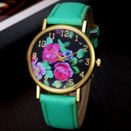 Poze Ceas de dama Flowers Dream - verde