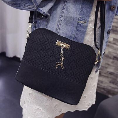 geanta ieftina de dama pentru umar, neagra