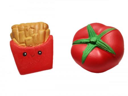 Poze Jucarii squishy - set 2 bucati, rosie si cartofi prajiti, model 2