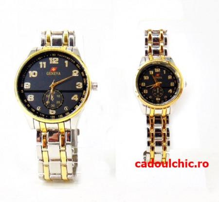 Poze Set 2 ceasuri pentru Ea si El - Eleganta si stil la un super pret + cutie originala cadou