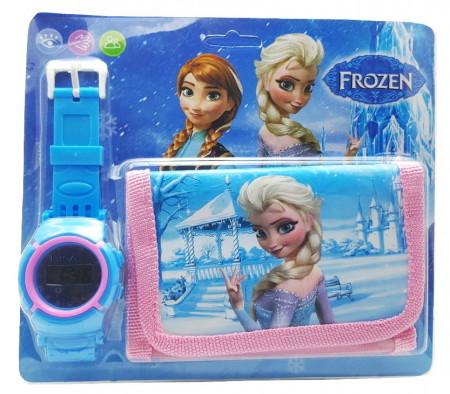 Poze Set Ceas pentru fetite cu portofel, tip Frozen, model 2