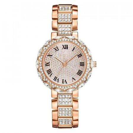 Poze Ceas dama elegant Full crystals - rose golden, cutie eleganta cadou