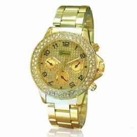 Ceas dama Geneva Crystal - auriu, cutie eleganta cadou