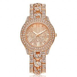 Poze Ceas dama Luxury Full Crystals - Rose Golden