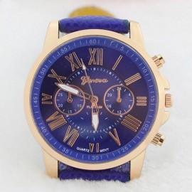 Poze Ceas de dama ieftin, Geneva bleumarine cu auriu