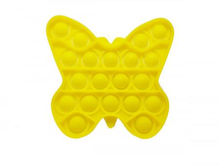 Poze Jucarie Pop It, antistres, forma fluture galben