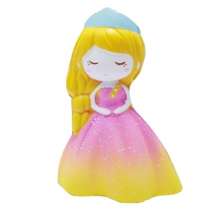Poze Jucarie Squishy, parfumata, model Delicate Princess in rochita roz