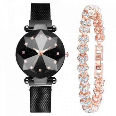 set ceas dama ieftin cu bratara cu cristale