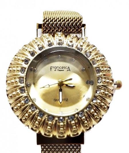 Poze Ceas dama bratara magnetica, Crystal Time, auriu + cutie eleganta cadou