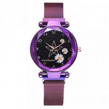ceas dama cu bratara magnetica purple