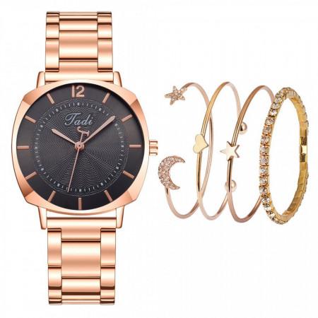 ceas dama elegant cu bratari la set, cadoul pentru ea perfect