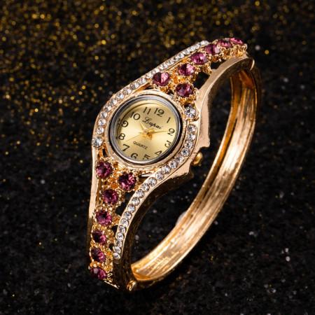 Poze Ceas dama elegant cu cristale purple