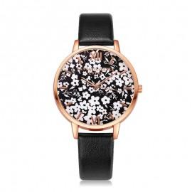 Ceas dama - Flori de primavara - negru