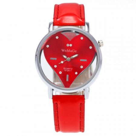 ceas dama ieftin cu cristale rosu