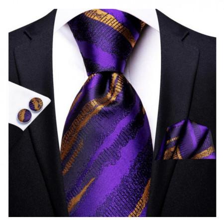 Set cravata + batista + butoni - matase 100% - model 159
