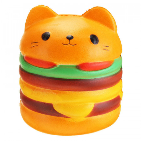 Poze Squishy pisicuta hamburger, parfumata